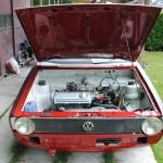 Motor ruimte met gereviseerde 1100cc motor
